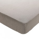 Fitted Sheet, Oatmeal, Doubleabc