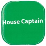 Button Badges, Pack of 20, House Captain - Greenabc