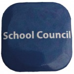 Button Badges, Pack of 20, School Council - Blueabc